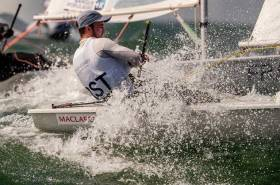 Finn Lynch - fighting for medal race place in the men's Laser class