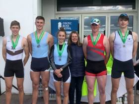 The Ireland junior men's coxed four