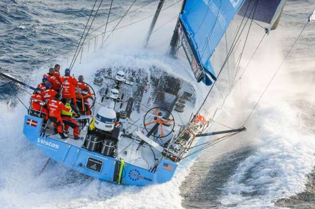 The leaders – with Vestas 11th Hour Racing still the pathfinder, and Damian Foxall in a senior crew role - are dealing this morning with the here-and-now of light headwinds