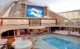 'Movies under the Stars'  feature on board Caribbean Princess (as seen on screen) which in the early of hours of this morning docked in Dublin Port