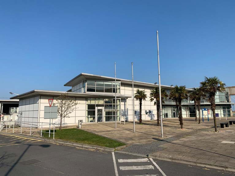 The former ferry terminal at Dun Laoghaire Harbour