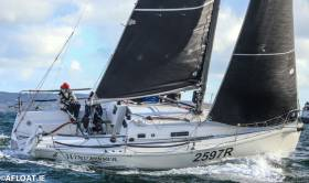 The J97 Windjammer  (Lindsay Casey) took her first ISORA overall win and Class 2 in the fourth race of the Viking Marine Coastal Series