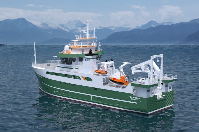 Afloat Update on Newbuild RV Tom Crean's Technological Marine Science Capability