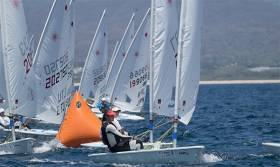 Light to medium winds for the first race of the Radial Women's Worlds in Mexico yesterday