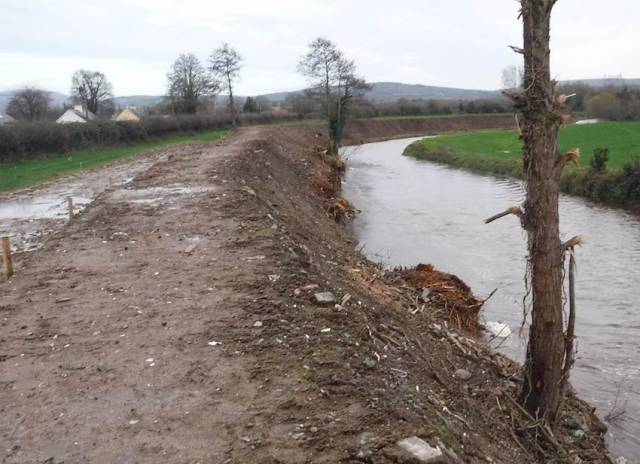 Part of the River Newport as seen after OPW flood relief works in December 2018