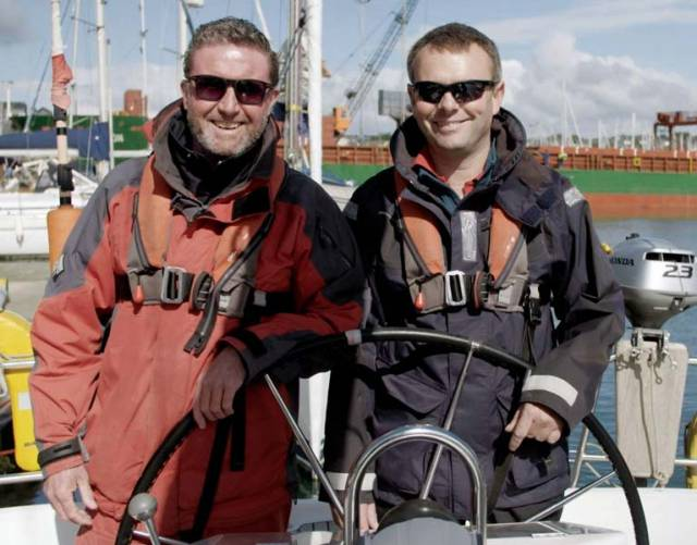 Colin Healy (left) and James Lyons, will speak about how their sailing programme helps people in their recovery from poor mental health and addiction.