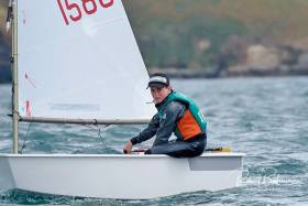 James Dwyer-Matthews pictured in his home waters of Kinsale at the Irish Nationals last month