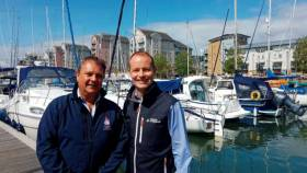 Simon Haigh, Managing Director of Quay Marinas (left) with Michael Prideaux, Managing Director of Dean & Reddyhoff