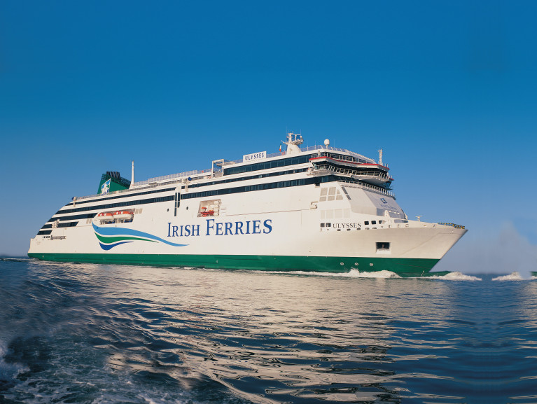 Irish Ferries' car carryings during 2020 were down by 65.8% to 137,100 cars. Above Ulysses on Dublin Bay, AFLOAT adds during its delivery voyage /maiden arrival to Dublin Port on 4th March 2001. This month also marks its 20th year operating on the core Irish Sea route of Dublin-Holyhead. The custom Finnish built cruiseferry, has recently returned to service following a routine overhaul dry-docking at Cammell Laird, Birkenhead on Merseyside. Taking its place was W.B.Yeats which has since resumed Dublin-Cherbourg duties.