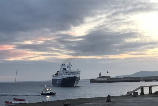 An Antarctic explorer in the form of cruiseship Ocean Atlantic which was escorted into Dun Laoghaire Harbour by pilot cutter this morning when a maiden call took place in the port which welcomed a new client Albratros Expeditions to the south Dublin Bay harbour.