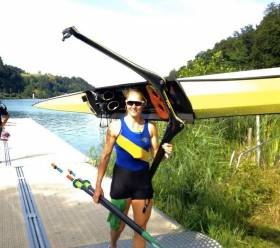 Sanita Puspure training at Lucerne