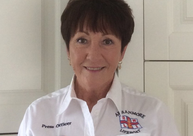 Retired nurse Nora Flanagan is Arranmore RNLI's lifeboat press officer