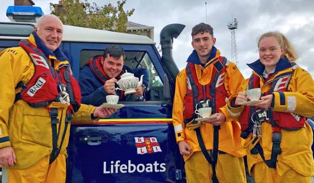 Larne lifeboat volunteers will raise a cuppa for Macmillan later this month