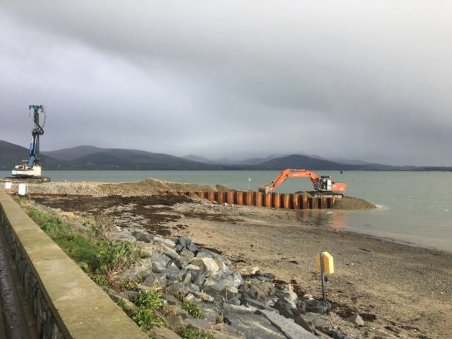 NEW ROUTE: Construction underway at Greenore, Co. Louth for a new cross-border car-ferry service due to open this summer on Carlingford Lough