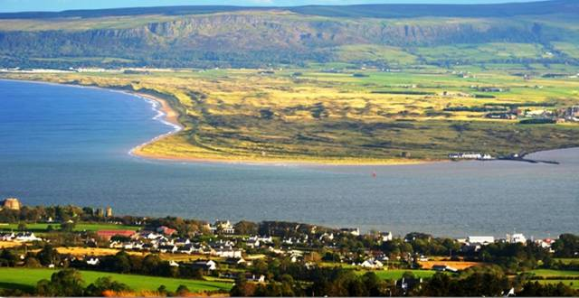 Lough Foyle is the estuary of the River Foyle separating Northern Ireland from the Republic