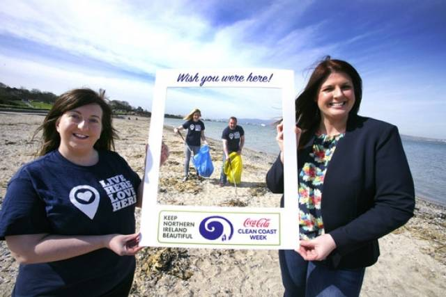 The Keep Northern Ireland Beautiful campaign launching Coca-Cola Clean Coasts Week