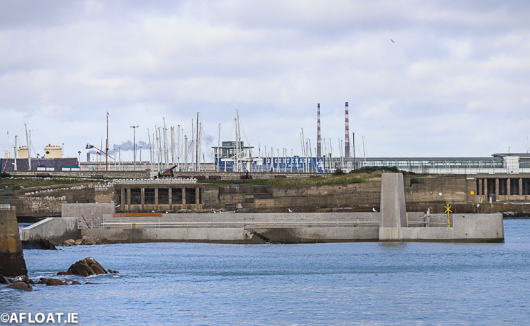 The new jetty nears completion at the old baths site on Scotsman's Bay