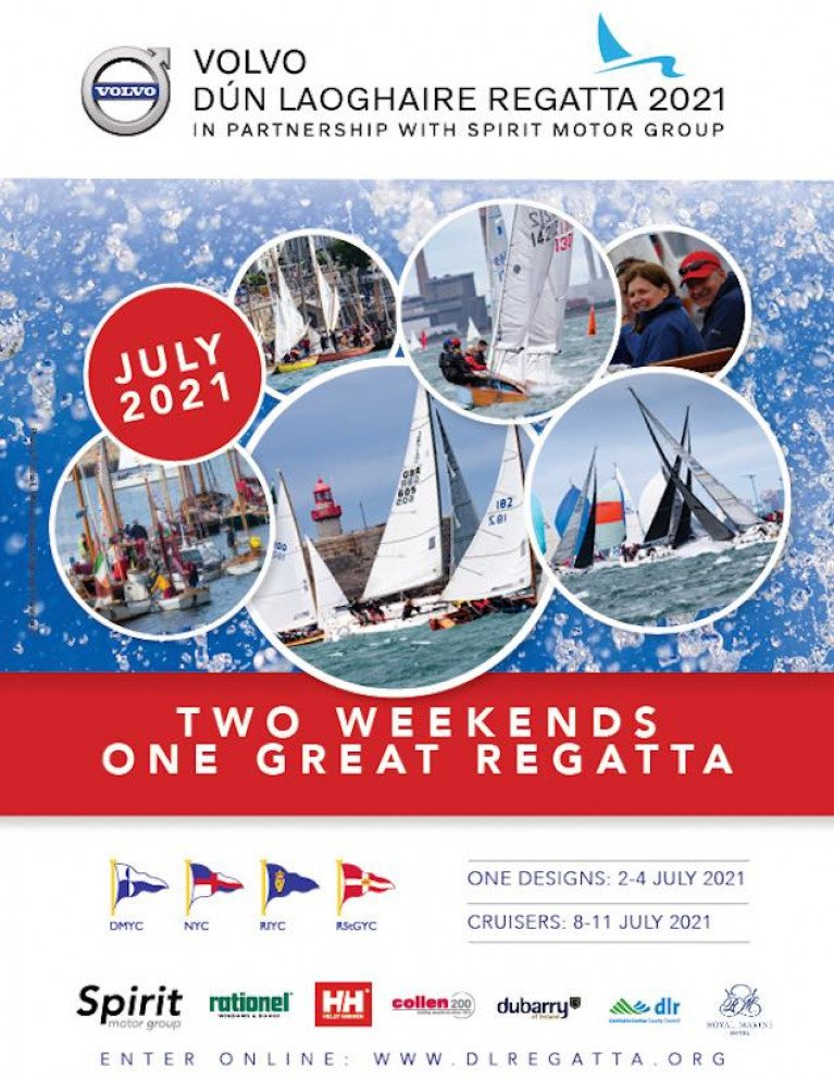 Two Weekends, One Great Regatta: 2021 Volvo Dun Laoghaire Regatta Notice of Race is Published