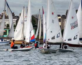CY&BC members on the water at Clontarf