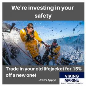 Get 15% Off New Lifejacket With Your Old One At Viking Marine