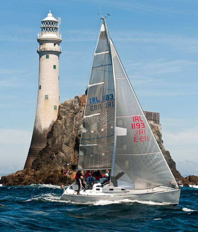 Rounding the Fastnet Rock, a part of Calves Week in West Cork
