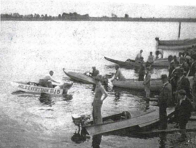 Motorboat racing on Lough Ree in 1932