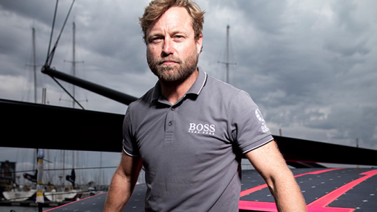 Alex Thomson prior to the start of this month's Vendee Globe
