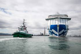 The Royal Princess will hold a commanding presence in the city's port with her size more than two-and-a-half times the length of Dublin's Spire