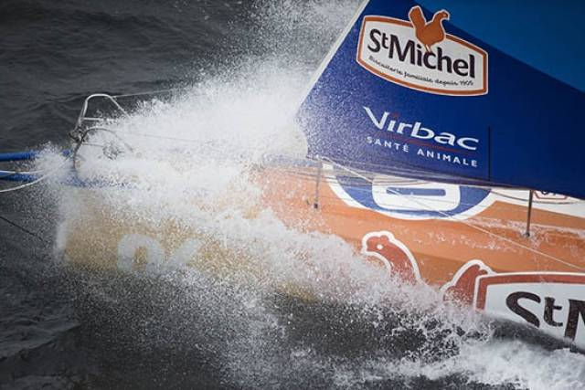 Jean Pierre Dick/St Michel Virbac is 85.27nm to the leader in the IMOCA 60 class
