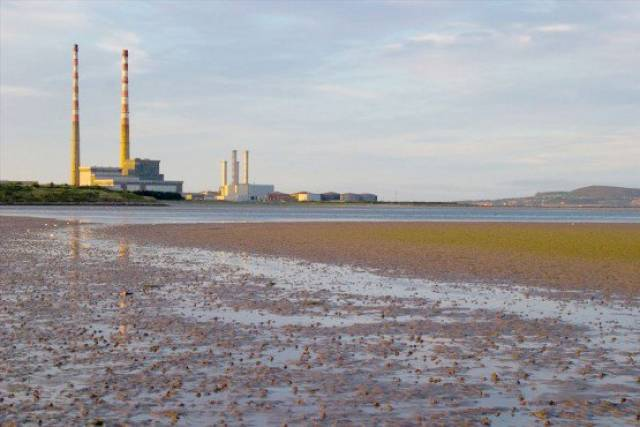 Sandymount beach in Dublin where walkers were rescued today by an inshore RNLI boat from Dun Laoghaire