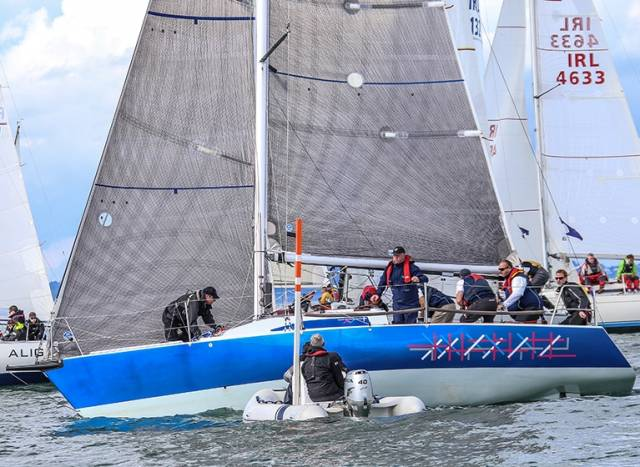 Howth Yacht Club Half–Tonner Checkmate (Dave Cullen) is one of the first entries into VDLR 2017