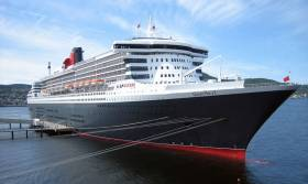 The Queen Mary 2, pictured here in Norway, was en route to Southampton from New York at the time