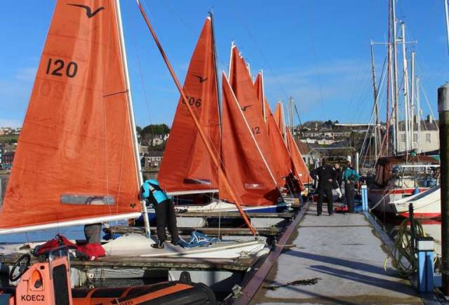 Kinsale Yacht Club Frostbite Series had an entry of 29 keelboats and dinghies